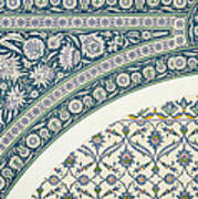 Wall Tiles Of Sibyl D Abd-el Rahman Kyahya From Arab Art As Seen Through The Monuments Of Cairo  Print by Emile Prisse d Avennes