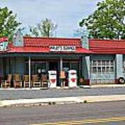 Wallys Service Station Mt. Airy Nc Print by Bob Pardue