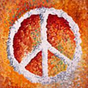 Warm Peace Print by Michelle Boudreaux