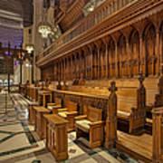 Washington National Cathedral Sanctuary Print by Susan Candelario