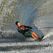 Water Skiing Magic Of Water 13 Print by Bob Christopher