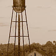 Water Tower Print by Olivier Le Queinec