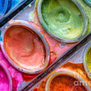 Watercolor Ovals One Print by Heidi Smith