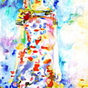 Watercolor Woman.18 Print by Fabrizio Cassetta