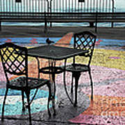 Waterfront Seating Print by Charline Xia