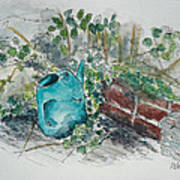 Watering Can Print by Helen J Pearson