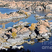 Watson Lake And The Granite Dells Print by Jim Chamberlain