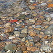 Wave Over Beautiful Rocks Print by Carol Groenen
