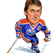 Wayne Gretzky Print by Art