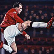 Wayne Rooney Print by Paul Meijering
