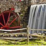 Wayside Grist Mill 4 Print by Dennis Coates