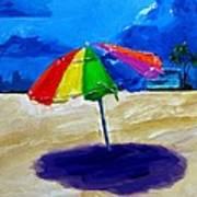 We Left The Umbrella Under The Storm Print by Patricia Awapara