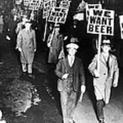 We Want Beer Print by Unknown