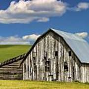 Weathered Barn Palouse Print by Carol Leigh