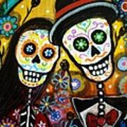 Wedding Dia De Los Muertos Print by Pristine Cartera Turkus