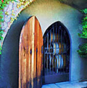 Welcome To The Winery Print by Elaine Plesser