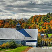 Western Maine Barn Print by Alana Ranney
