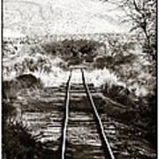 Western Tracks Print by John Rizzuto
