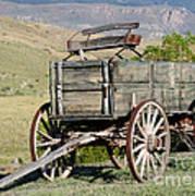 Western Wagon Print by Sabrina L Ryan