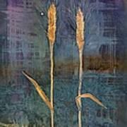 Wheat Couple Print by Carolyn Doe
