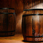 Whisky Barrel Print by Olivier Le Queinec