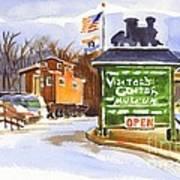 Whistle Junction In Ironton Missouri Print by Kip DeVore