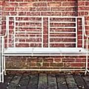 White Bench Print by Tom Gowanlock