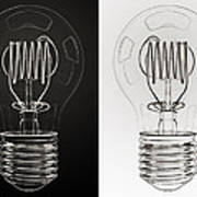 White Bulb Black Bulb Print by Scott Norris