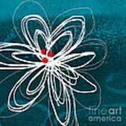 White Flower Print by Linda Woods