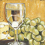 White Wine And Cheese Print by Debbie DeWitt