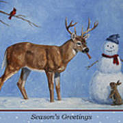 Whose Carrot Seasons Greeting Print by Crista Forest