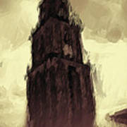 Wicked Tower Print by Ayse Deniz