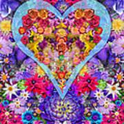 Wild Flower Heart Print by Alixandra Mullins
