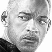 Will Smith Print by Marvin Lee