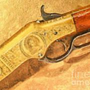Winchester 1866 Yellow Boy Rifle Print by Odon Czintos