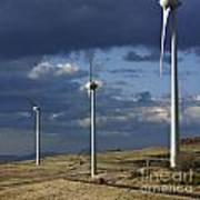 Wind Turbines. Region Auvergne. France Print by Bernard Jaubert