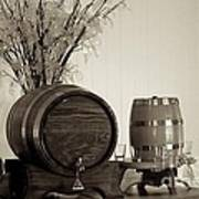Wine Barrels Print by Alanna DPhoto