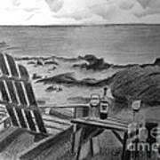 Wine By The Sea Print by Nancy McNamer