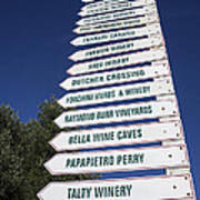 Wine Country Signs Print by Garry Gay