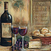 Wine For Two Print by Marilyn Dunlap