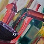 Wine Pour IIi Print by Donna Tuten