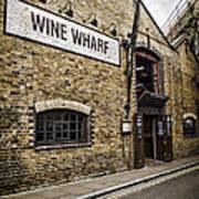 Wine Wharf Print by Heather Applegate