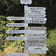 Winery Street Sign In The Sonoma California Wine Country 5d24601 Print by Wingsdomain Art and Photography