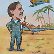 Wing Cdr.clive Caldwell Print by Murray McLeod