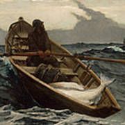 Winslow Homer The Fog Warning Print by Winslow Homer
