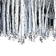 Winter Aspens  Print by Michael Swanson
