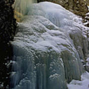 Winter At Zapata Falls Print by Ellen Heaverlo