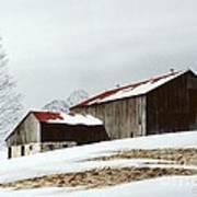 Winter Barn Print by Michael Swanson