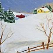 Winter Farm Print by Bryan Penzer