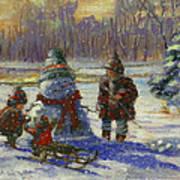 Winter Friend Print by Marcia Johnson